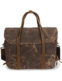 852a0c340c YongBe Uomo Cartelle di Tela per Gli Uomini Vintage Classic 15 Pollici  Laptop Business Shoulder Messenger Bag…