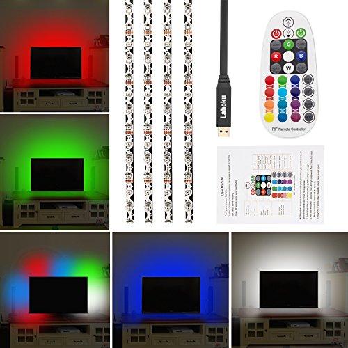 LAHOKU---Tira de retroiluminación LED TV,2mRGB Kit,multi-color Tiras Led,para HD TV,PC,Monitor,Decoración de cine...