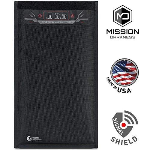 Mission Darkness Fensterlose Faraday-Tasche für Tabletten // Abschirmung der 5. Generation für Strafverfolgungsbehörden und Militär // Anti-Hacking, Signalblockierung, Datenschutz -