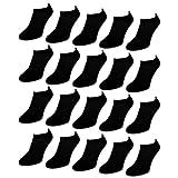 20 Paar Comfort Sneaker Socken - Naft - Damen & Herren - 36-42 - Schwarz