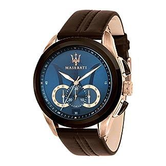 Reloj para Hombre, Colección Traguardo, Movimiento de Cuarzo, cronógrafo, en Acero y Cuero – R8871612024