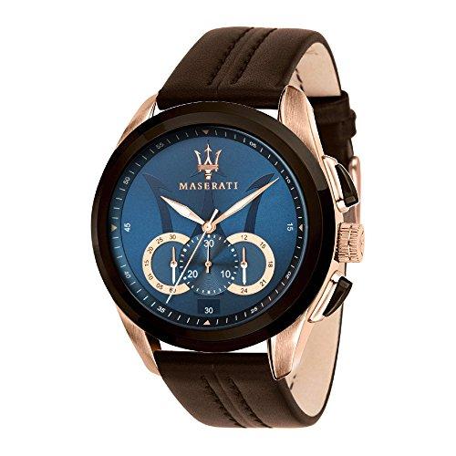MASERATI Orologio Cronografo Quarzo Uomo con Cinturino in Pelle R8871612024