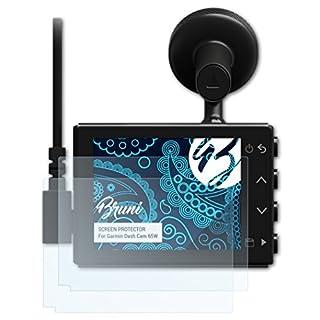 Bruni Schutzfolie für Garmin Dash Cam 65W Folie, glasklare Displayschutzfolie (2X)