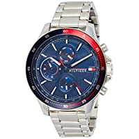 Tommy Hilfiger men's Navy Dial Stainless Steel Watch - 1791718