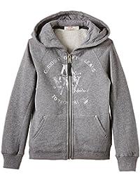 DDP G2ZIP6M - Sweat-shirt à capuche - Col à fermeture éclair - Manches longues - Fille