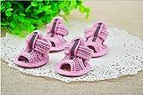 Hianiquaime® 4 Bottes Hydrofuge Anti-dérapant Maille Sandales Chaussures Chaussette Protection pour Chien Chats Respirant 3 Tailles