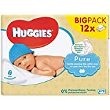 Huggies Pure Wipes 12 x 64 per pack