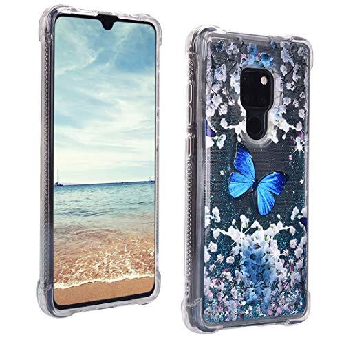 Huawei Mate 20 Glitzer Hülle, ToMoYi Handy Hülle Luxus Niedlich Flüssig Treibsand Quicksand Transparent Silikon Weich TPU Bumper mit Anti-Drop Schutzhülle Liquid Case für Huawei Mate 20 (Handy-lava)