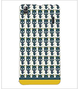 PrintDhaba Kitty pattern D-1765 Back Case Cover for LENOVO K3 NOTE (Multi-Coloured)
