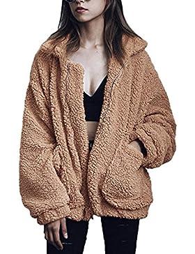 [Sponsorizzato]Caldo Donna Inverno Corto Giacche Capispalla Cappotti Elegante Di Modo Stile Di Strada Cerniera Giacca In Peluche
