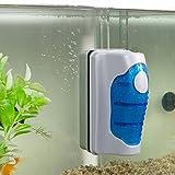 Cebbay Brosse magnétique Aquarium Grattoir à algues Outil de Nettoyage Flottant (S,...