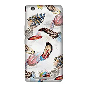 Abhivyakti Abstract Colour Feather Hard Back Case Cover For Gionee Marathon M5