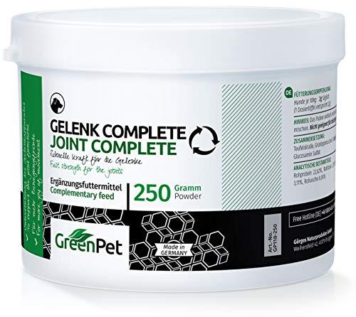 GreenPet Gelenk-Pulver Complete 250g für Hunde, Grünlipp-Muschel, MSM, Glucosamin, Kollagen, Teufelskralle, Gelenke-Akut Pulver Gelenkprobleme beim Hund, Alternative zu Gelenktabletten