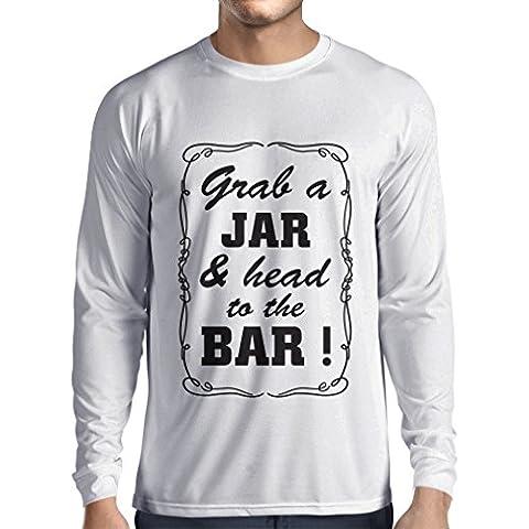 N4524L Camiseta de manga larga Grab a Jar and & head to the Bar!