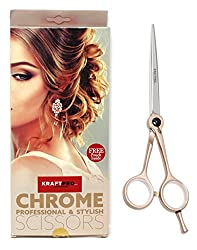 KRAFTPRO Chrome Professional & Stylish Scissors ( Experience the Most Advanced Professional Line of Hair Styling Scissors ) (5 inches)
