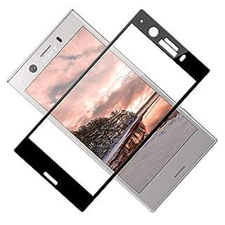 TOIYIOC Panzerglas Schutzfolie für Sony Xperia XZ1 Compact, [Vollständige Abdeckung] 0.30mm Ultra-klar Folie Panzerglasfolie, Displayschutzfolie Glas kompatibel Sony Xperia XZ1 Compact [2 Stück]