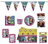 Partypaket Frozen Geburtstag Kinder 50-Teilig Partybox