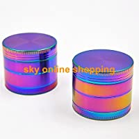 50mm Ice Magic Metal Rainbow Dazzle Color Herb Crusher Grinder Tools Zinc Alloy