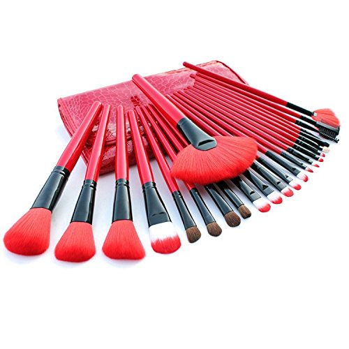 XUAN 24 PCs maquillage brosse brush set maquillage cosmétiques rouge set brosses