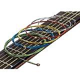 Paxcoo Bunte Gitarren Saiten Set für Akustikgitarre