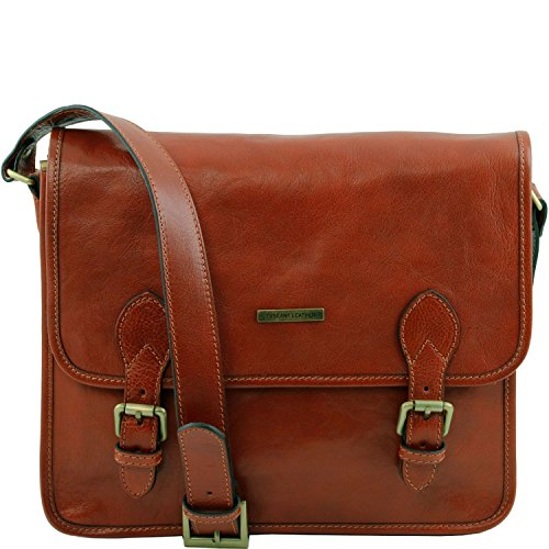 Tuscany Leather - TL Postman - Borsa messenger in pelle Marrone - TL141288/1 Miele