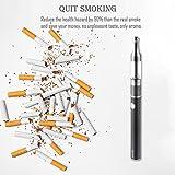 Cigarette-electronique-kit-complet-Dornvap-Cigarette-lectronique-E-Cigarette900mAh-Batterie-rechargeable-03Ohm-Sub-Ohm-Tank-2ml-pas-de-nicotine-non-tabac-Noir