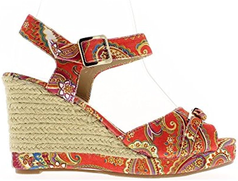 Consuelo roja Cuña Sandalias de Tacón de 5cm -