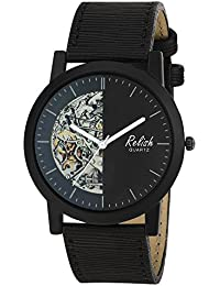 RELISH RE-S8133BB Black Slim Analog Watches For Men's And Boy's