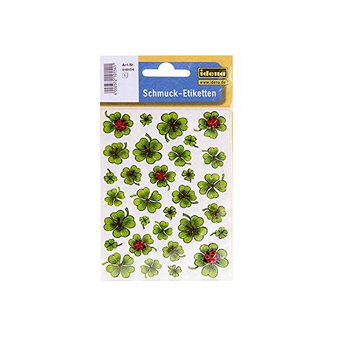 Idena 310154–pegatinas diseño trébol, multicolor