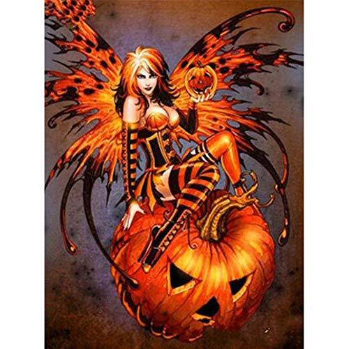 Puzzle Hölzernes 1000 Stück Weiblicher Teufel Halloween-Porträts Kinder Amateur Art Spiels Creative Spielzeug Puzzles ()