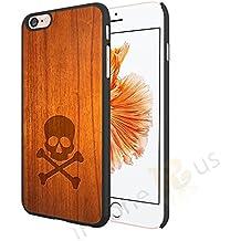 Efecto de madera de calavera negro lados patrón teléfono móvil para iphone Samsung Sony Xperia Motorola HTC HUAWEI plástico teléfono casos. Por on-case ®, madera, negro, Sony Xperia Z5 Premium