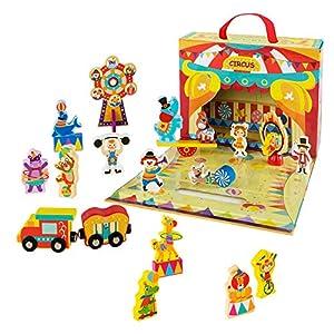 ColorBaby Play&Learn Circo de madera, 25 piezas Multicolor (46211)