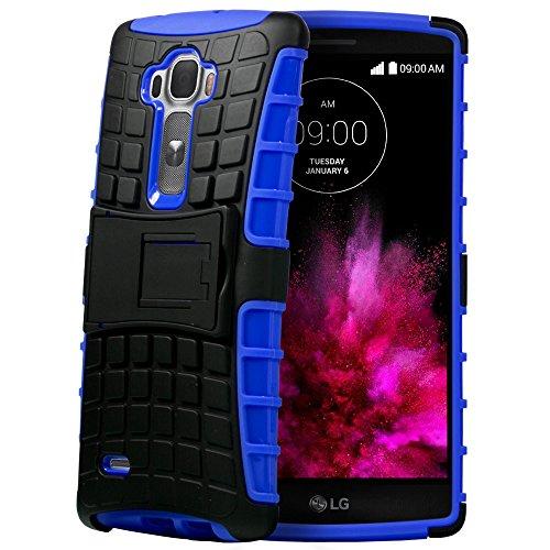Fosmon HYBO-RAGGED Abnehmbar Hybride TPU + PC Case Cover hülle für LG G Flex 2 - Blau / - Lg 2 Flex Cover