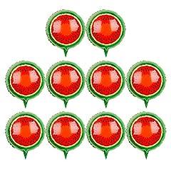 Idea Regalo - Toyvian Palloncini di Frutta Palloncini di Anguria da 18 Pollici per la Decorazione di Nozze di Compleanno (Anguria) - 10 Pezzi