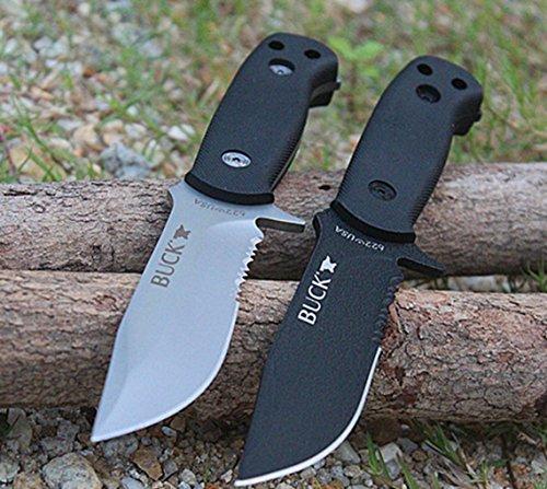 KNIFE SHOP Cuchillo Al Aire Libre Buck Pequeño Recto Cuchillo Cámping Cuchillo Alta Dureza Sostenida Supervivencia Portátil Salvaje Cuchillo No Plegable Cuchillo