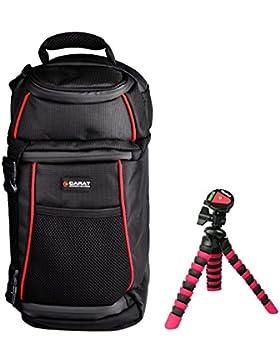 Foto Tasche Kamera Carat SLING Rucksack Set mit Stativ für Canon EOS 1300D 1200D 760D 750D 700D Nikon D7100 D5500...