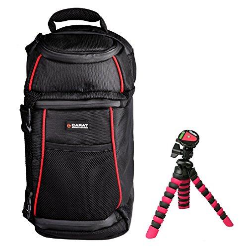 Preisvergleich Produktbild Foto Tasche Kamera Carat SLING Rucksack Set mit Stativ für Canon EOS 1300D 1200D 760D 750D 700D Nikon D7100 D5500 D5300 D5200 D3300 D3200 und andere