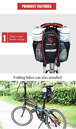 West Radfahren Fahrrad Satteltasche Strap On/Tasche Sitz–Gut designte gut organisiert schwarz / rot