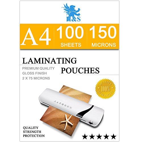 hs-100-x-a4-laminating-pouches-150-micron-2-x-75-micron-gloss-laminator-pouches-sheets-glossy-lamina