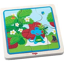 Haba–puzzle in legno fragola mouse | puzzle in legno per 3anni Olds | 303182