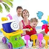 Zantec Set di giocattolo per sabbia della spiaggia veicolo e benna del bagno per i bambini 7pcs