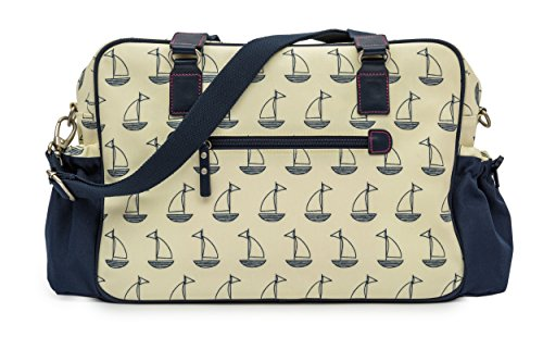 Rose Lining Not so Plain Jane Sailing Boats Navy And Cream