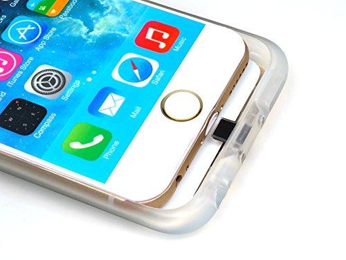 iProtect Qi-kompatible induktive TPU Schutzhülle Apple iPhone 6 Wireless Charging Hard Case in gold und transparent gold Hülle