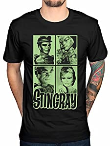 Official Gerry Anderson Stingray Mug Shot T-Shirt 1960s Tv Series