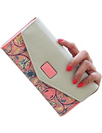 F9Q femmes cuir PU Purse Wallet Enveloppe titulaire de la carte à long Mobile Zip à main