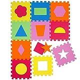 Alfombra Puzle para Niños | en Espuma EVA | Alfombra Infantil para Jugar | con Figuras Geométricas Desmontables