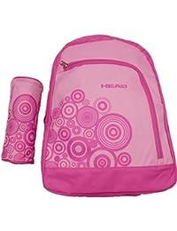 Head - Kit de mochila y estuche con correas ajustables, color rosa