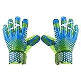 Zer one Kinder Junior Torwarthandschuhe, Trainingshandschuhe für Jungen und Mädchen mit doppeltem Handgelenkschutz und rutschfestem, abriebfestem Schutz gegen Verletzungen