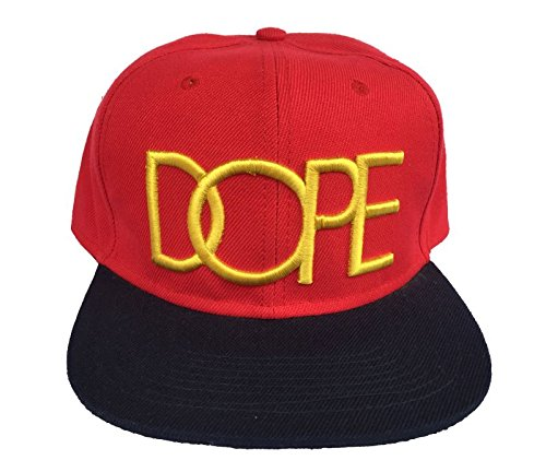 Dope Red Yellow Snapback, Imported Baseball Cap [ Freebie worth 150 Included ]  available at amazon for Rs.425