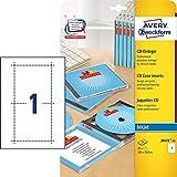 AVERY Zweckform J8431-25 CD-Einleger für Slim Case (A4, 25 Stück, 121 x 242 mm, 25 Blatt) weiß